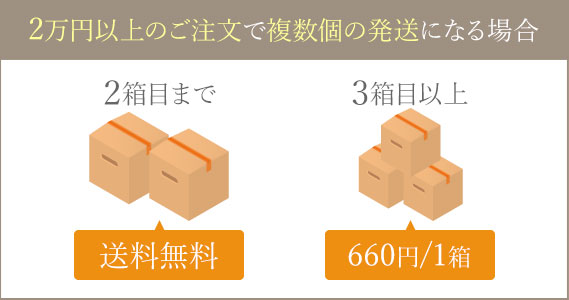 2万円以上のご注文で